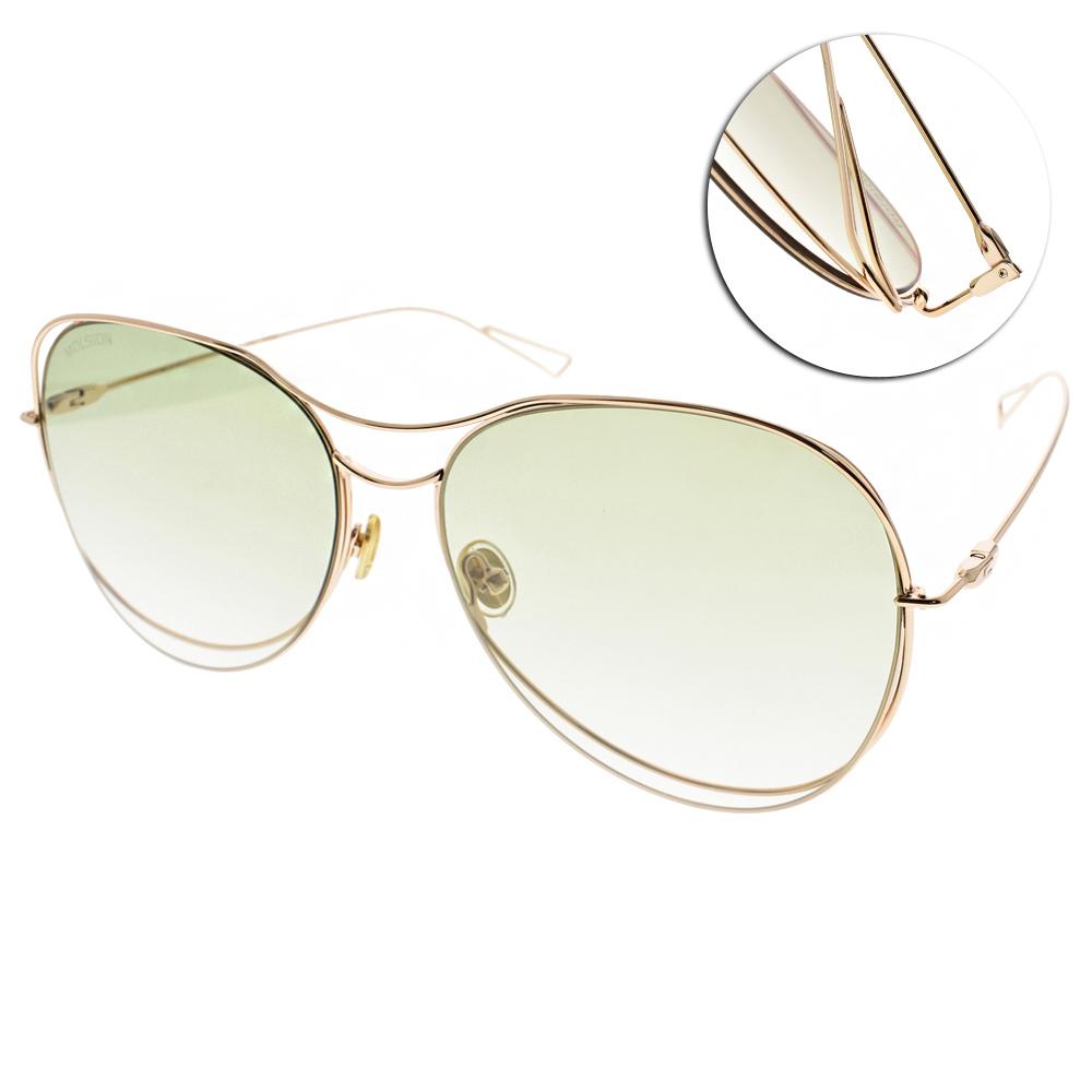 MOLSION太陽眼鏡 Angelababy代言/金-漸層綠#MS8023 A63