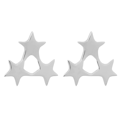 Tada & Toy 三小星星銀色耳針