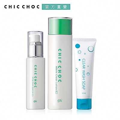 ★CHIC CHOC 淨透白肌涼感保養組(2款任選)