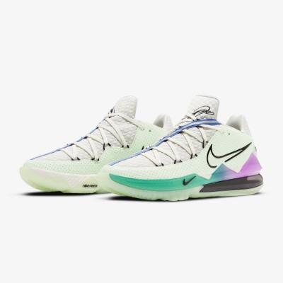 NIKE 籃球鞋 氣墊 避震 夜光 明星款 運動鞋 男鞋  灰綠 CD5006005 LEBRON XVII LOW EP