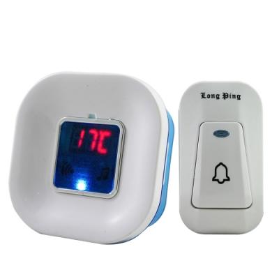 溫度感測插電式無線數位緊急看護門鈴 B1-18