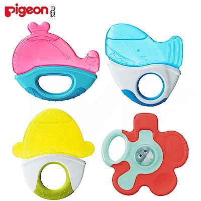日本《Pigeon 貝親》冰涼固齒器玩具組(4入)