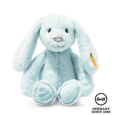 STEIFF德國金耳釦泰迪熊  My first Steiff Hoppie Rabbit  藍色小兔子(嬰幼兒玩偶)
