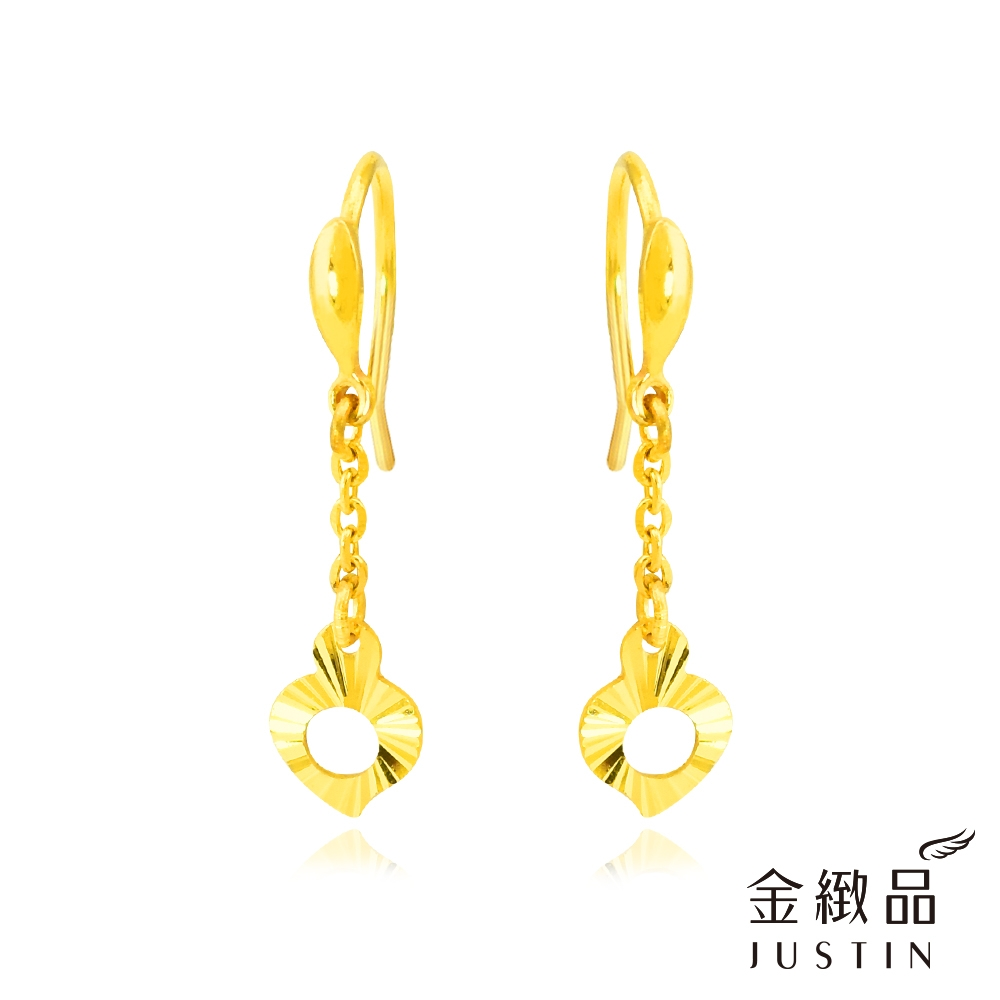 金緻品 黃金垂吊耳環 晨曦 0.40錢