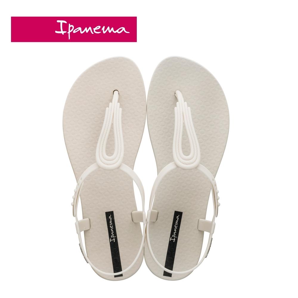 IPANEMA CLASS POP IV 水滴鏤空T字涼鞋-米