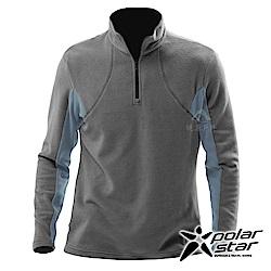 PolarStar 中性 高領拉鍊保暖衣『灰』 P18253