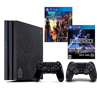 PS4 Pro主機1TB 王國之心3同捆組+第二隻手把+星際大戰:戰場前線2