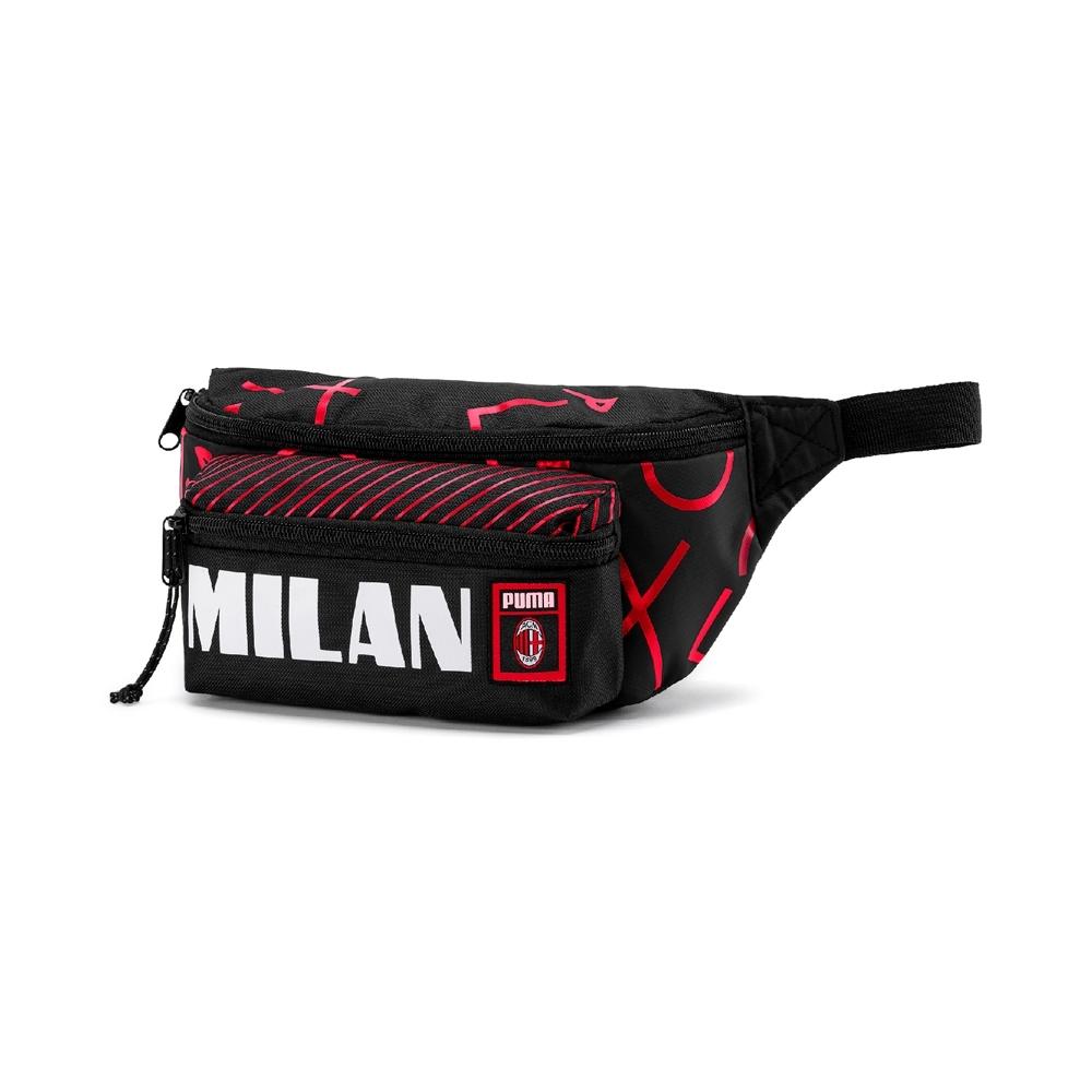 PUMA-男女AC Milan腰包-黑色