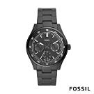 FOSSIL BELMAR 多功能三眼黑色不鏽鋼手錶(FS5576)