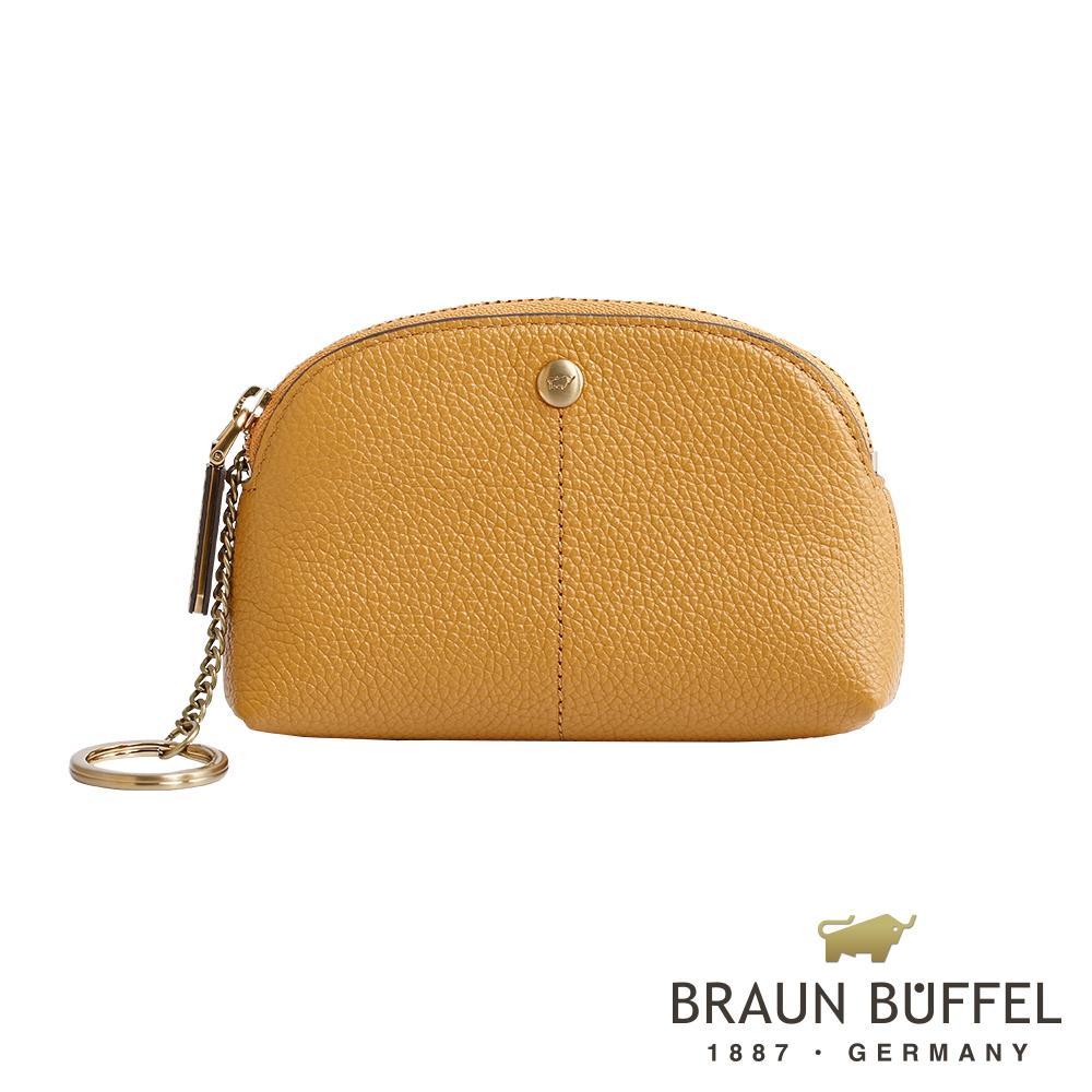 BRAUN BUFFEL - 珍妮絲系列荔枝紋零錢包 - 晨光黃