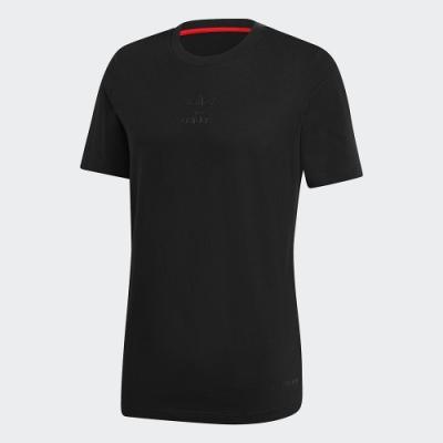 adidas 上衣 短袖上衣 運動 慢跑 健身 男款 黑 GJ6776