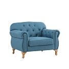 MUNA 米洛斯單人布沙發(藍色/綠色) 108X81X85cm