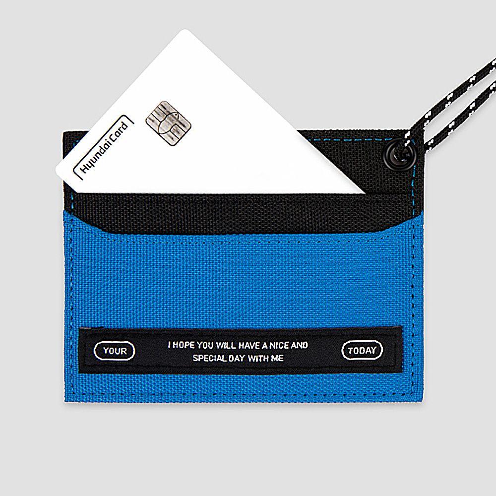 BNTP Today 個性色塊票卡夾-自信藍