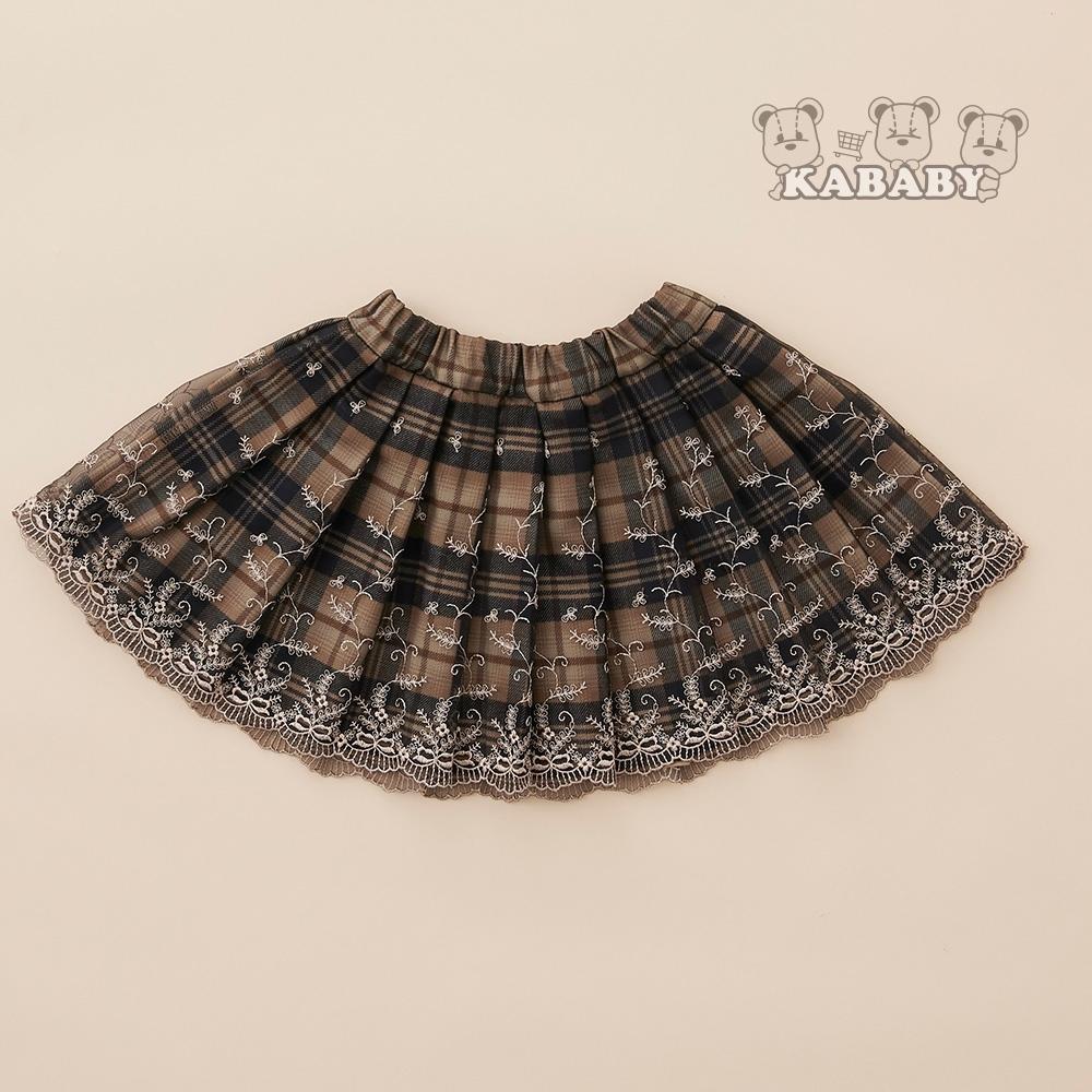 【金安德森】KA格紋波浪短裙(卡色)
