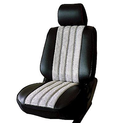 【葵花】量身訂做-汽車椅套-日式合成皮-賽車條紋A款-露營車款-雙前座-第一排2人座