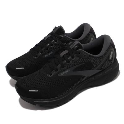 Brooks 慢跑鞋 Ghost 14 寬楦 運動休閒 女鞋 路跑 避震 合腳 穩定 彈力 黑 1203561D020