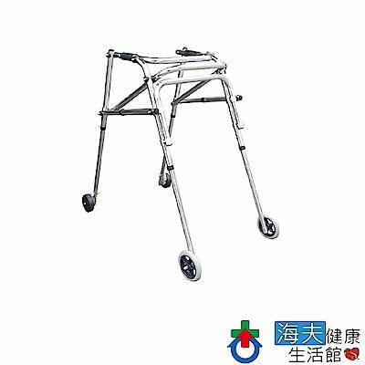 杏華助行器(未滅菌) 海夫 姿勢控制型 直行定向輪 煞車輪 鋁製 助行器(IC2205)