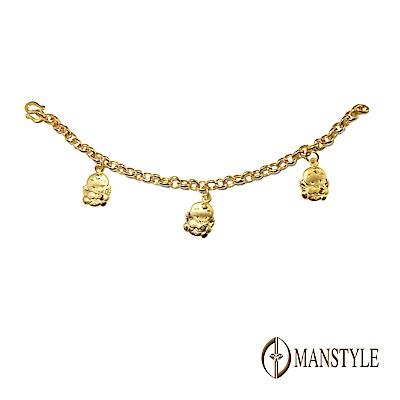 MANSTYLE 天使降臨 彌月黃金手鍊 (約1.13錢)