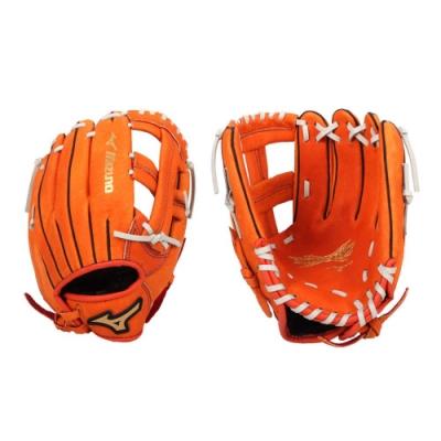 MIZUNO 少年用手套-棒球 壘球 右投 美津濃 訓練 1AJGY15100-51 橘灰
