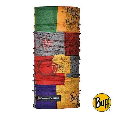《BUFF》Plus經典頭巾-國家地理-佛文梵語 BF118258-555