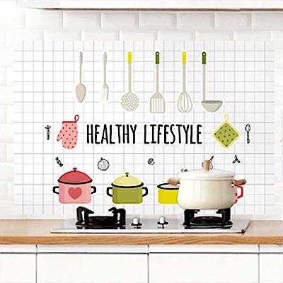 廚房防油防水自黏貼紙 PVC耐高溫 可擦拭易清潔