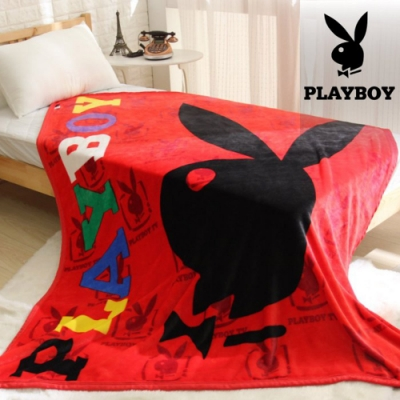 PLAYBOY法蘭絨毯-俏皮紅(EO-013)