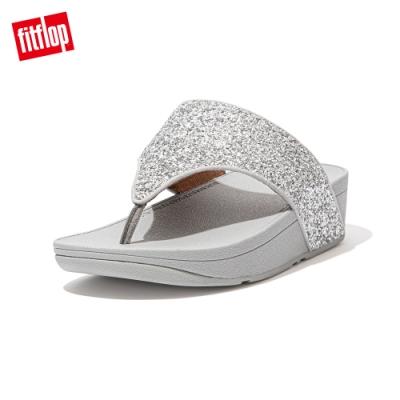 FitFlop OLIVE GLITTER MIX TOE-POST SANDALS夾腳涼鞋-女(銀色)