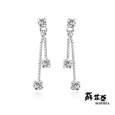 蘇菲亞SOPHIA - 輕珠寶系列許願流星0.20克拉鑽石耳環