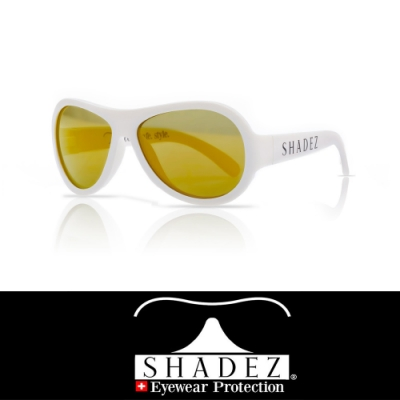 【瑞士SHADEZ】兒童太陽眼鏡 純淨白 7-12歲