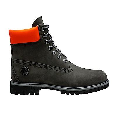 Timberland 男款深灰色皮革6吋防水靴 | A1PBMD97