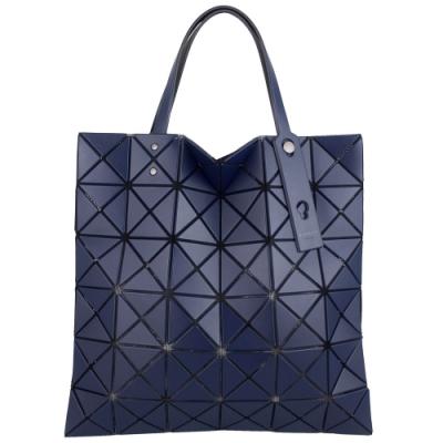 ISSEY MIYAKE 三宅一生BAOBAO皮質三角方格6x6手提包(海軍藍色)