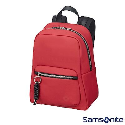 Samsonite新秀麗 Smoothy輕量皮革後背包(暗紅)