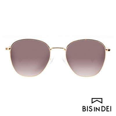 BIS IN DEI 簡約中性金屬框太陽眼鏡-棕