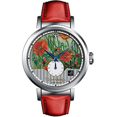 梵谷Van Gogh Swiss Watch小秒盤梵谷經典名畫女錶(C-SLLB-17)