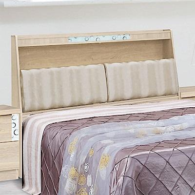 綠活居 米思5尺皮革雙人床頭箱(不含床底)-153x30.5x122.5cm免組