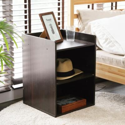 澄境 萬用附插座二層書櫃/收納櫃/床頭櫃40x40x55cm-DIY