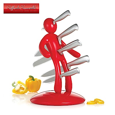 義大利原創設計師Raffaele Iannello鉬釩鋼刀具組(五件式)-紅色-BF-VD