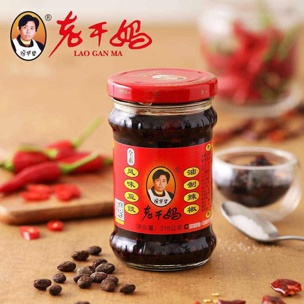 (任選)老干媽 風味豆豉油制辣椒(210g)