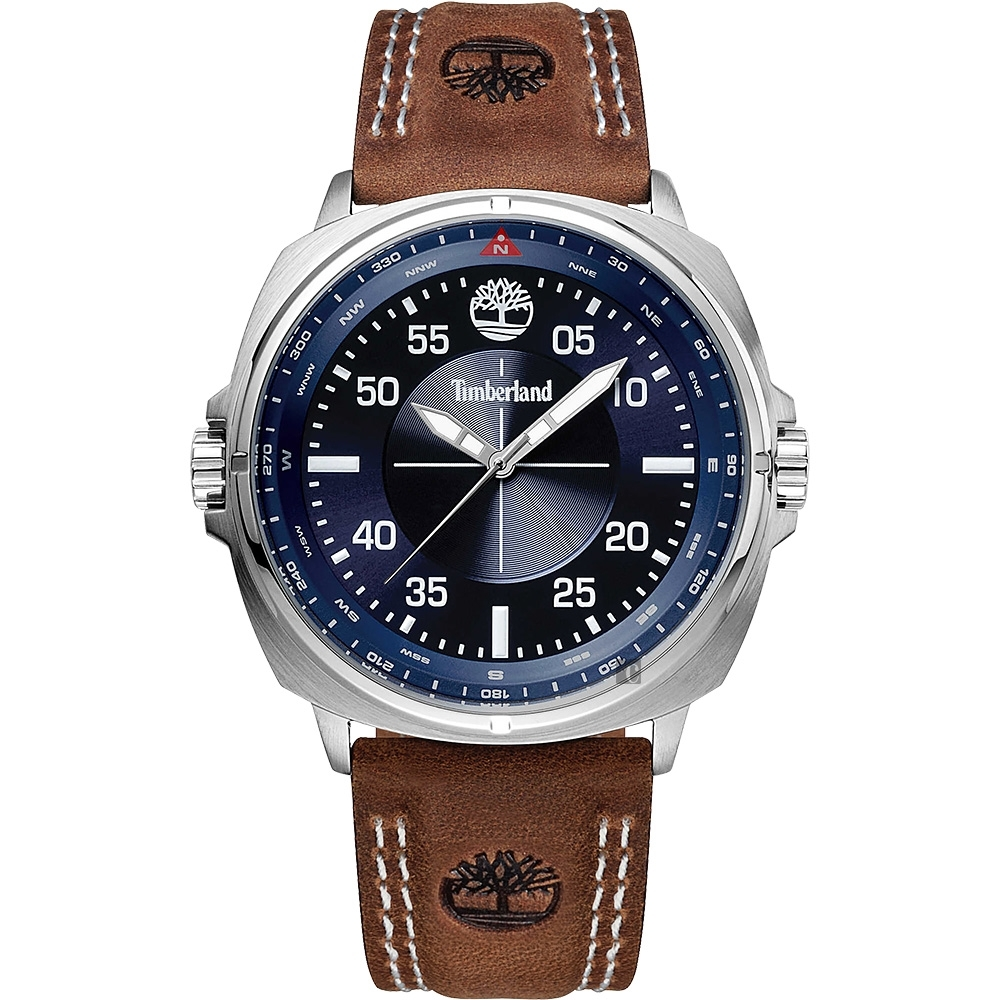 Timberland 天柏嵐 廣告款手錶(TBL.15516JS/03)-藍x棕