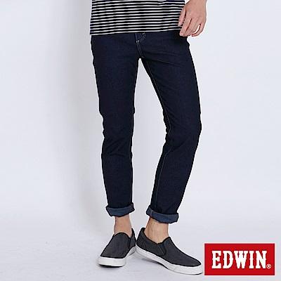 EDWIN JERSEYS 迦績修身極彈窄直筒牛仔褲-男-原藍色
