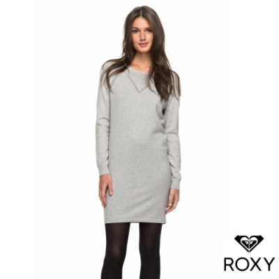 【ROXY】WINTER STORY 針織洋裝 灰色
