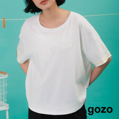 gozo-袖口壓線寬版上衣(兩色)