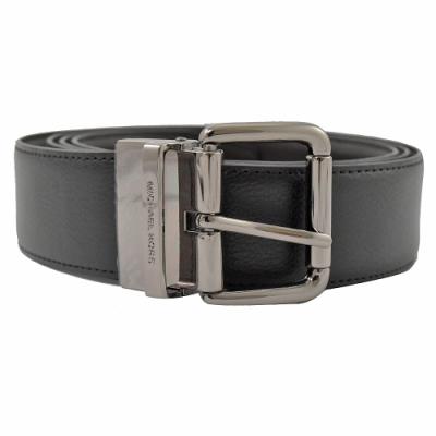 MICHAEL KORS 經典皮帶扣寬版牛皮雙面皮帶(深咖/黑)