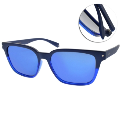 Polaroid 水銀偏光太陽眼鏡 簡約百搭款/藍 #PLD6044FS PJP5X