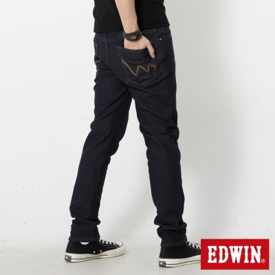 EDWIN 大尺碼迦績褲JERSEYS貼合內裏保溫直筒褲-男-中古藍