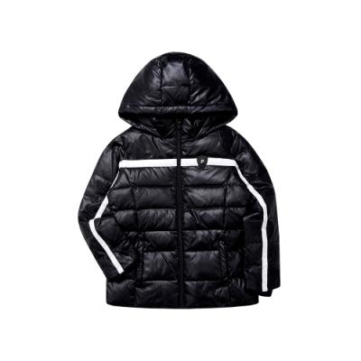 FILA KIDS 女童羽絨外套-黑色 5JKT-8415-BK