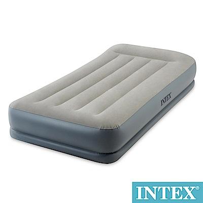 INTEX舒適雙層內建幫浦充氣床(fiber tech)-寬99cm(64115N)