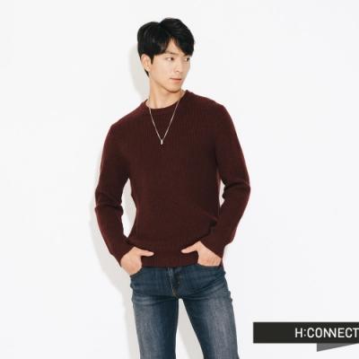 H:CONNECT 韓國品牌 男裝-修身羅紋針織上衣-紅