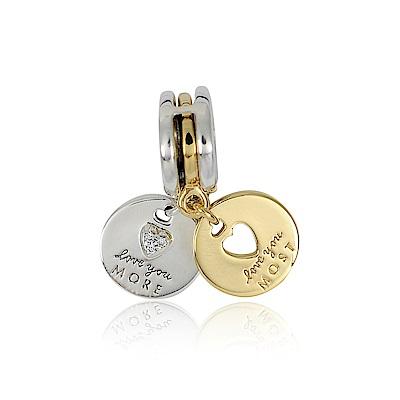 Pandora 潘朵拉 More &Most Love刻字吊牌鑲鋯 垂墜純銀墜飾