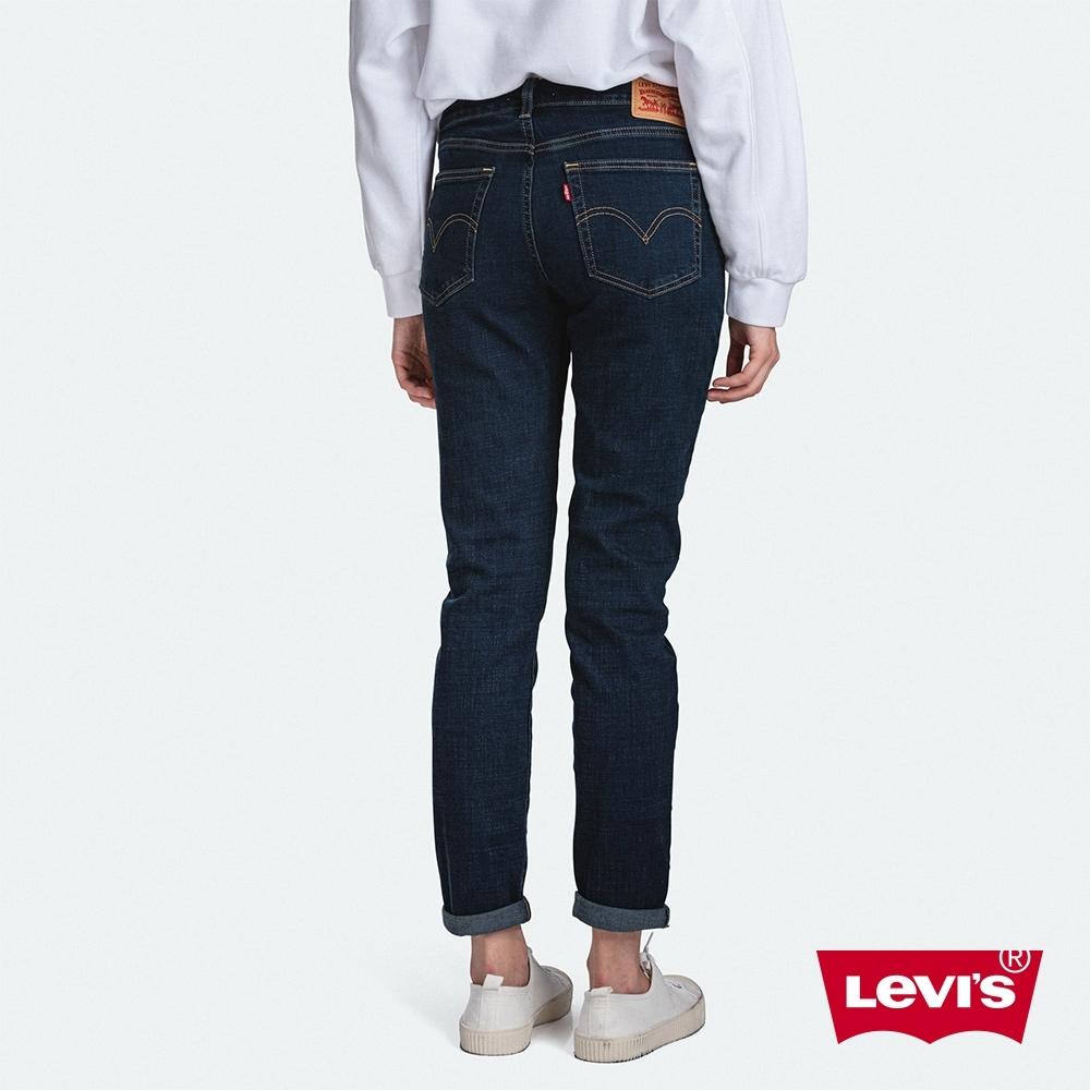 Levis 男友褲 中腰寬鬆版牛仔褲 黑藍基本款 彈性布料